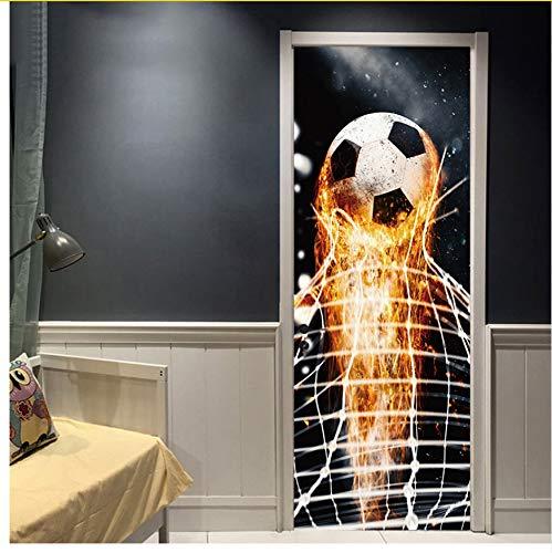 Firing Fußball Durch Wandaufkleber Für Kinderzimmer Dekoration Home Decals Fußball Spaß 3D Wandbild Kunst Sport Spiel Pvc Poster 77X200cm