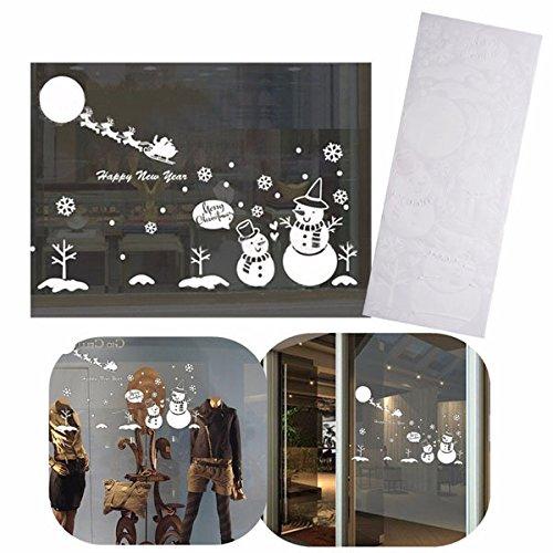 achtsschneemann Schneeflocke Weihnachtswandaufkleber Vinyl Fenster Aufkleber Kids Kunst Dekoration ()