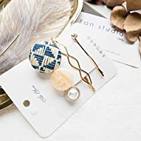 ToDIDAF 1 Set of Hair Clips Summer Fresh Sweet Metal Retro Creative Pearl Hairpin Side Clip Ladies Temperament Jewelry Gift