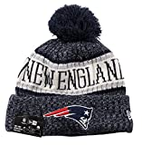 New Era ONF18 Sport Knit Bommelmütze New England Patriots Blau, Size:ONE Size