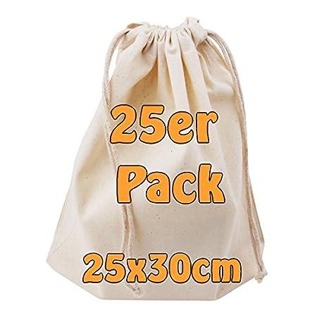 Cottonbagjoe Baumwollbeutel Stoffbeutel mit Kordelzug Lunchsack Kosmetikbeutel Sockenbeutel Schmucksäckchen…