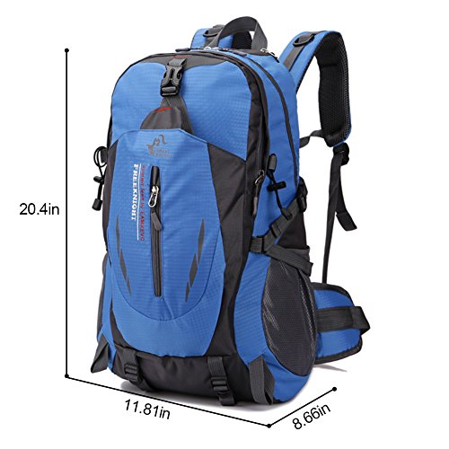 Imagen de huntvp  de alpinismo  deportiva gran  impermeable 40l para las actividades aire libre, senderismo, caza ,viajar, color azul alternativa