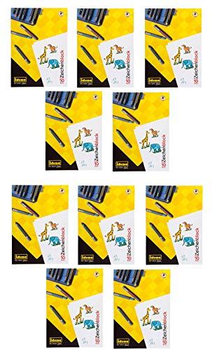 Zeichenkarton, DIN A3, 10 Blatt, 190g/m², holzfrei weiß (10 Blöcke)