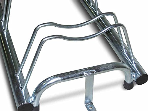 ANDRYS – Outdoor and Indoor Floor Bicycle Carrier – Bicycle Rack Up to 5 seats in Cold Galvanized Steel – Silver Rack…