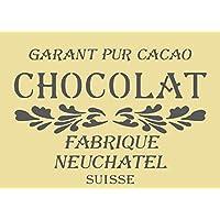 A5/A4/A3 Shabby Chic francés Vintage Mylar plantilla para estarcir Chocolat