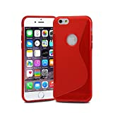 Lapinette SL-6-PLUS-RGE - Carcasa tipo S-Line para Apple iPhone 6 Plus/6S Plus, color rojo
