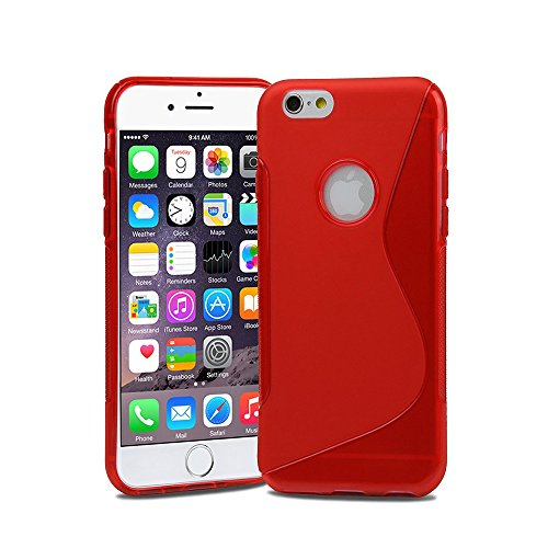 Lapinette S Wave Gel Case Cover für iPhone 6 Plus 6S Plus – Blau rot