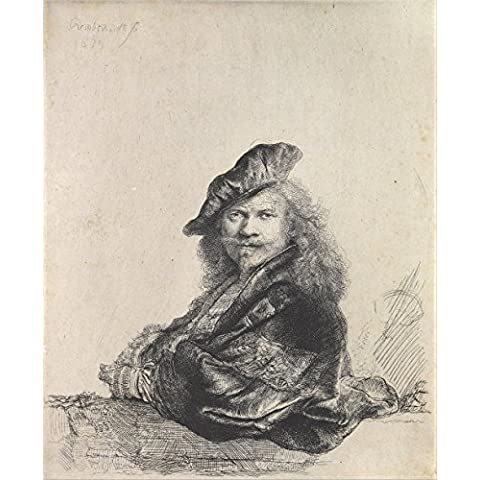 Rembrandt Harmenszoon van Rijn - Leaning on a Stone Sill - Extra Large - Matte Print