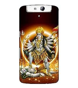 Fuson Designer Back Case Cover for Oppo N1 (Maa kali theme)