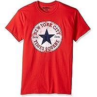 Zubaz Men's NYC Graphic Souvenir T-Shirt, Red NY All Star, XL