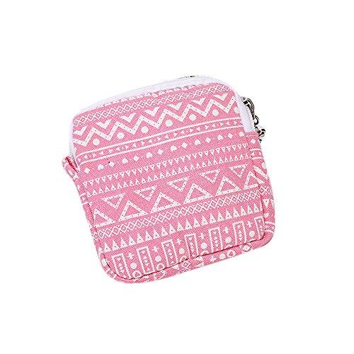 Longra Donna Stoccaggio Cosmetic Bag Borsa in cotone lana Anguria rossa