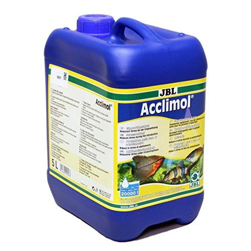 JBL Acclimol 5 l (pour 20000 l), Conditionneur d'eau pour l'acclimatation des poissons en aquarium d'eau douce