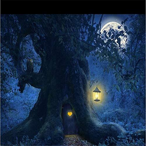 mlandschaft Halloween-Hintergrundwandmalerei der kundenspezifischen Tapetenfotos HD-Fantasie schöne Cchpfcc-150X225CM ()
