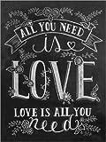 Posterlounge Alu Dibond 100 x 130 cm: Alles was Du Brauchst, ist Liebe von Lily & Val/MGL Licensing