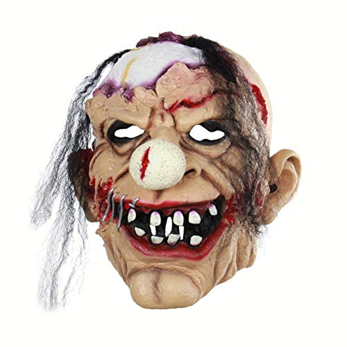 Jester Kostüm Kinder Scary Evil - FLTVSN Halloween-Maske Horror Stil Clown Maske Scary Evil Jester Clown Vollgesichts Halloween Horror Latex Masken