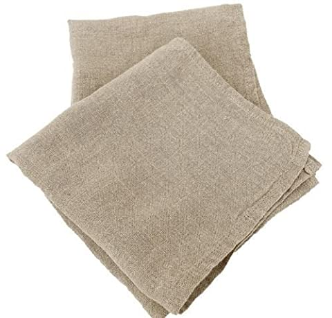 Window Cleaners Scrim Pack of 2 Professional Contract Quality Linen Clay:Roberts Scrims 40cm Unwashed