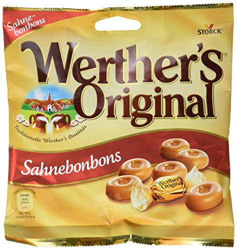 Preisvergleich Produktbild Werther's Original Sahnebonbons - Leckere Karamell Bonbons mit einer extra Portion Sahne zumgenießen für jeden Süßigkeiten-Liebhaber - (5 x 120g Beutel)