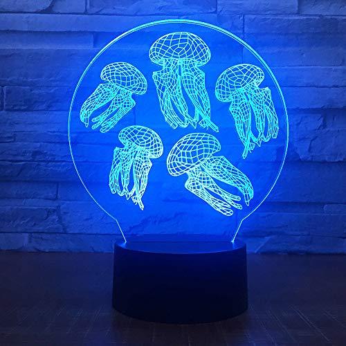orangeww Football Helm 3d Illusion Lampe/Schreibtisch Tischbeleuchtung, Schlafen Nachtlicht/Qualle/Fernbedienung und Touch - Leder-plüsch-kissen Liege