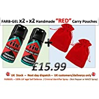 Criminal ID spray/spray per autodifesa, X2, X2 Handmade rosso custodia per il trasporto