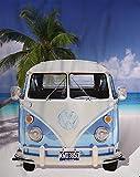 BERONAGE GROßE ORIGINAL Fleece-Decke VW Bulli 130 cm x 170 cm OVP - Volkswagen VW Bus T1 EXKLUSIV Modell 001 BLAU - Decke - KUSCHELDECKE - TAGESDECKE - FLEECEDECKE - SCHMUSEDECKE - FLAUSCHDECKE