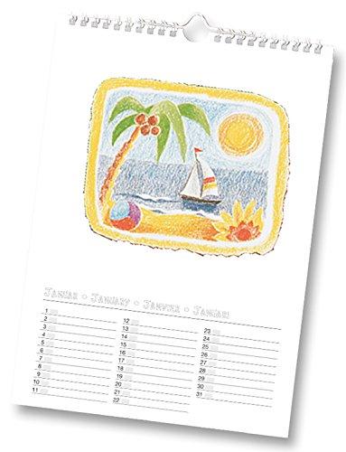 Bringmann 2313 - Bastelkalender Folia A4 weiss zum selbstgestalten hergestellt von Bringmann
