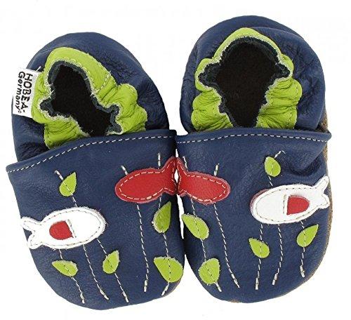 HOBEA-Germany Krabbelschuhe in verschiedenen Farben und Designs mit Tieren , Modell Schuhe:Fische, Schuhgröße:22/23 (18-24 (Schuhe Fisch Mit)