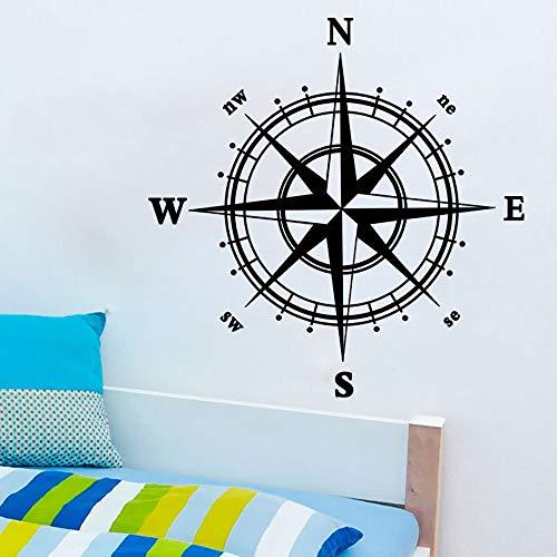 Njuxcnhg Kompass Wall Decal Aufkleber Vinyl Dekor Wandbild Schlafzimmer Küche Kunst Karte Reisen Vinylpared Aufkleber auf der Wand Aufkleber Wandbild