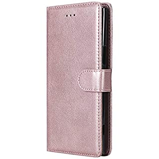 BoxTii Sony Xperia XZ Premium Case, Detachable PU Leather Cover, 2 in 1 Magnetic Wallet Case with Free Tempered Glass Screen Protector for Sony Xperia XZ Premium (Rose Gold)