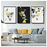 Wwjwf Quadri su Tela Geometrici Moderni in Bianco E Nero Quadri su Tela Immagini Murali Astratte Stampe E Poster Soggiorno Decorazioni per La Casa 60X80Cmx3 Senza Cornice