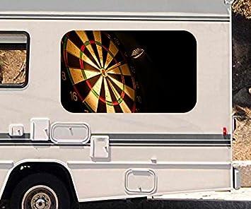 Pfeil Fensterbau 3d autoaufkleber sport dart pfeil dartscheibe wohnmobil auto kfz