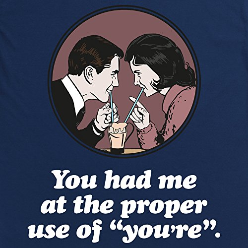 Proper Use of You're T-Shirt, Herren Dunkelblau