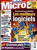 MICRO HEBDO [No 403] du 05/01/2006 - LES MEILLEURS LOGICIELS - 10 ECRANS PLATS DE 19 POUCES - QUE VALENT LES NOUVEAUX OPERATEURS DE TELEPHONIE MOBILE - CONVERTISSEZ VOS FILMS QUICK TIME EN AVI - CREEZ GRATUITEMENT VOTRE PODCAST