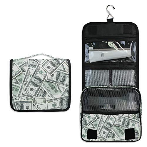 Doshine Kulturbeutel zum Aufhängen, lustiges amerikanisches Dollar, große Aufbewahrung, Make-up-Tasche für Frauen, Mädchen, Reisen, Badezimmer
