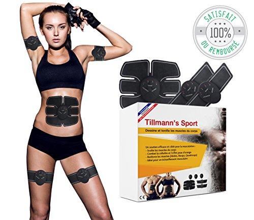 Electrostimulateur Musculaire : EMS - Ceinture abdominale, bras et jambes -...