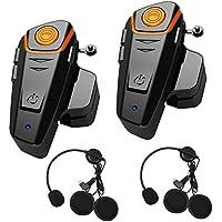 Anancooler BT-S2 - Auriculares Bluetooth Impermeables para Motocicleta con Bluetooth, Auriculares intercomunicadores de