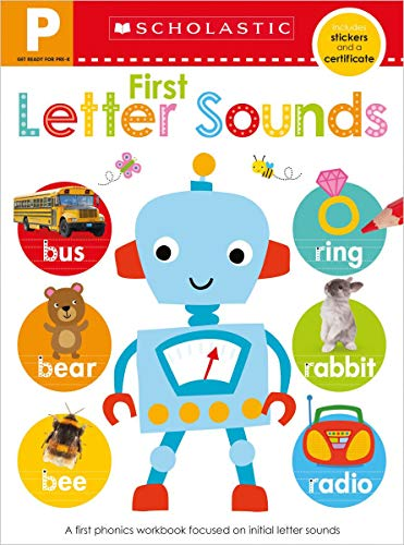 Get Ready for Pre-K Skills Workbook: First Letter Sounds (Scholastic Early Learners)
