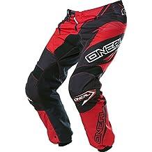O 'Neal Element MX Pantalón Racewear Negro Naranja Motocross Enduro Offroad Quad, 0128–4, infantil unisex, Element, negro rojo, 32