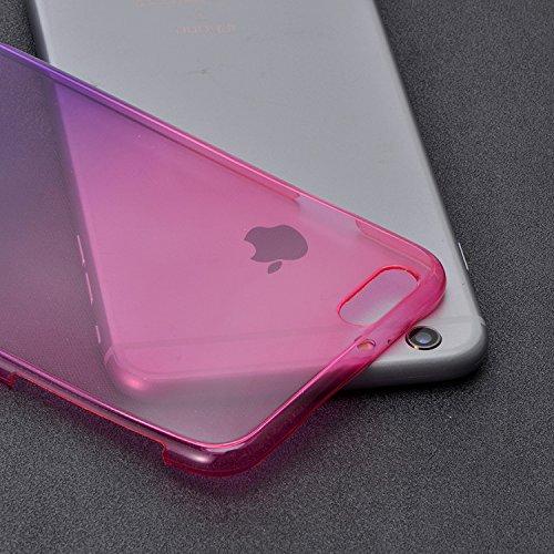 iPhone 6 6S Luxury 3D Coque Housse ,Vandot Bling Diamant Crystal Etui pour iPhone 6 6S TPU Bumper Design Soft Cover Girl Lady Etui iPhone 6 6S 4.7 Pouces Housse Case Couverture + Fashion boule de chev Glitter - Rose Rouge+Pourpre