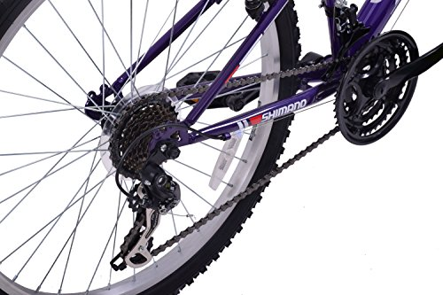 "51dZixdHx3L - Ammaco ASPEN WOMENS 20"" FRAME 21 SPEED FRONT SUSPENSION 26"" WHEEL MOUNTAIN BIKE PURPLE"