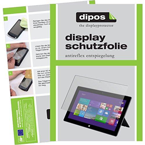 dipos Microsoft Surface 3 (10,8 Zoll) Schutzfolie (3 Stück) - Antireflex Premium Folie matt