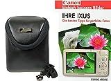 Foto Kamera Tasche INTERCEPT S Leder Set mit Fotobuch Ihre Canon Ixus N 125 132 140 145 150 155 240