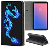 Nokia 6 (2017) Hülle Premium Smart Einseitig Flipcover Hülle Nokia 6 2017 Flip Case Handyhülle Nokia 6 Modell 2017 Motiv (230 Anker Schwarz Blau Orange)
