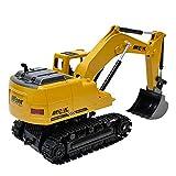 Jamicy Ferngesteuertes Auto, 1:24 Bagger Elektrische drahtlose Fernbedienung BAU Traktor LKW Spielzeug Geschenk für Kinder