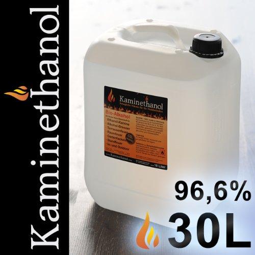 Preisvergleich Produktbild 30 Liter Bioethanol 96,6%, 3 Kanister (3x10L) - direkt vom Hersteller - versandkostenfrei nach DE!
