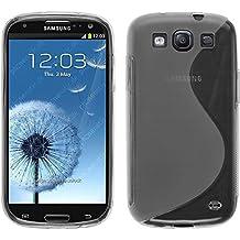 Funda de silicona para Samsung Galaxy S3 Neo - S-Style transparente - Cover PhoneNatic Cubierta + protector de