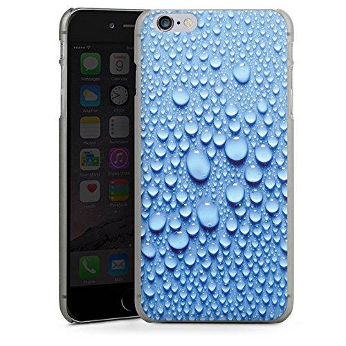 Apple iPhone X Silikon Hülle Case Schutzhülle Wasser Tropfen Muster Hard Case anthrazit-klar