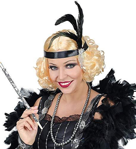 r Jahre Charleston Damen Perücke inkl. Haarband mit Federn Flapper Stirnband Kostüm-Zubehör Twenties 20's ()
