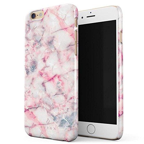 BURGA Beere Marmelade Pink Rosa Süßigkeiten Bunt Marmor Marble Dünn, Robuste Rückschale aus Kunststoff Für iPhone 6 Plus / 6s Plus Hülle Handyhülle Schutz Case Cover (Teal Color-iphone 6 Case)