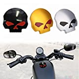 #10: Ocamo Cool Motorcycle CNC Aluminum Skull Eye Fuel Gas Oil Tank Cap for Harley Davidson Silver 41mm