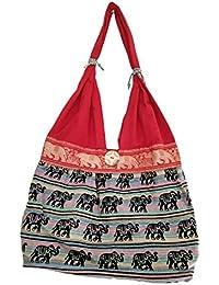 Women's Embordierd Multi Coloured Shoulder Bag/Traditional Bag/Jhola/Jaipuri Rajsthani Bag